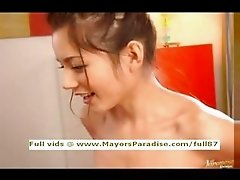Tina Yuzuki innocent asian girl blowjobs and gets cumshoot