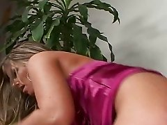 Blonde secretary with big boobs get a dick