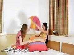 Cute unbelievable teenie girlsongirls