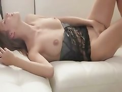 Huge vibrator in her unbelievable pussy
