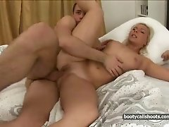 Cute blonde boned in her pumped up holes