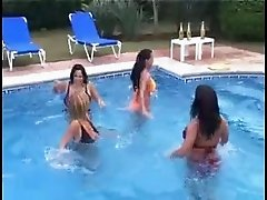 big tit ladys dance and play by pool softcore