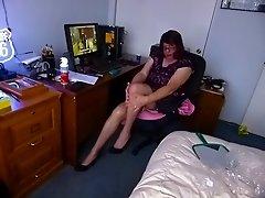 Flashing Stockings and Pink Panties