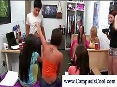 College girls judge stiff dicks