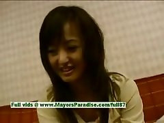 Saori innocent naughty asian girl is talking about sex