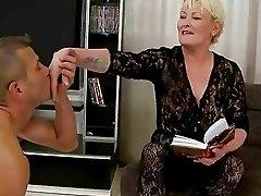Hot busty granny enjoys good fucking