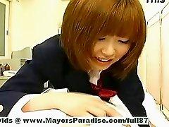 Rio Hamasaki,  Lovely Japanese Model Teasing A Man
