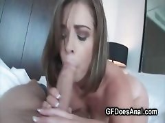 Round Ass GF with Cock in Mouth and Pussy