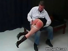 Nasty hot MILF redhead babe gets spanked part5