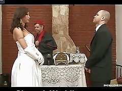 Fiery tranny takes a hung guy in marriage
