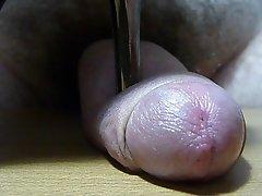 Pin heel on cock