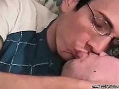 Hot and nasty dude with glasses gets horny with his man on