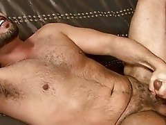 Horny gay gets ass fingering and a blowjob