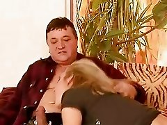 Hot girl having sex with grandpa