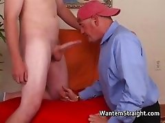 Hot straight guys in gay porno action part6