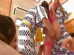 Crazy Asian girls have hot gangbang part3