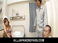 Aya Lovely Japanese babe likes fucking three guys