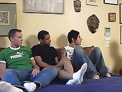 Three guys want to have fun and theyre preparing for a real gay orgy