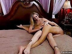 Julia Ann is having fun making her friend moan with so much pleasure