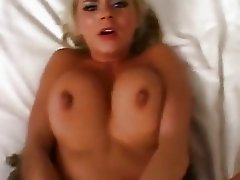 Blonde Bree Olson gets ass banged hard and takes creamy facial cumload