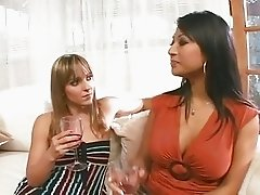 Gianna Lynn and Lexi Love dildo dip their hot tight holes together