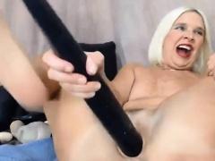 Blonde Midwest MILF enjoy DP with baseball bat ALIVEGIRL