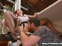 RealityKings - Sneaky Sex - Logan Long Monique Alexander - Over The Counter