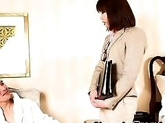 Japanese office tranny seduces a guy and bangs with him