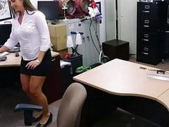 Big ass honey pawns her pussy and fucked
