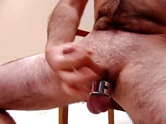 Daddies ball strecher and cum