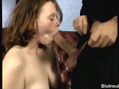 German redhead deepthroat and anal