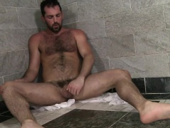 Natural exhibitionist Rich begged us to film him jacking off