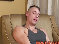 Athletic Aston fucked in hotel room