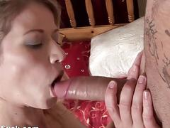 Impressive fucking and cumshot to the eye