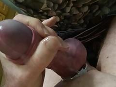 Steel cock ring wank slow motion