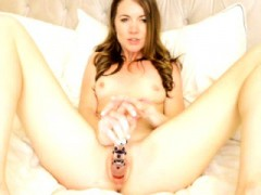 Breasty Gianna michaels having lascivious solo masturbation