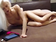 slutty blonde likes her toys