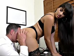lady boss mercedes carrera rewards her employee with hot sex in office