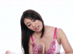 Japanese pornstar handjob with cumshot