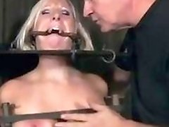 Bound bitch Crystal Frost likes being whipped by master BDSM