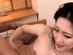 Adorable asian pet slave services two hungry peckers