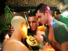 Gay porn move boys Dozens of dudes go bananas for bananas at
