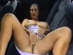 No Audio: Vehicle solo Busty German Milf Michelle