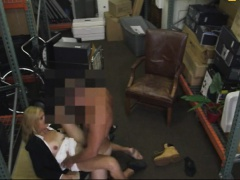 Nasty blonde milf stuffed by pawnkeeper to earn extra money