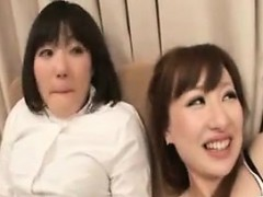 Two alluring and lustful Japanese babes getting pleased wit