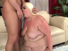 Massive Bimbo Blonde Loves Taking a Hard Dick