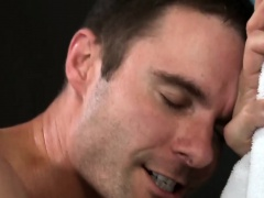 Cameron Kincade and Saxon West teaching gym sex tricks