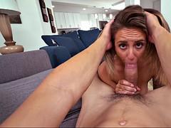 layla london loves sucking fat, juicy cock in pov