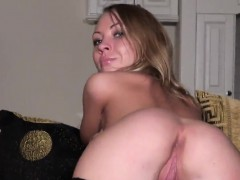 Casting stunner goes away after hardcore penetration and ass