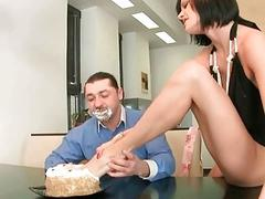 Liz Valery enjoying nasty footsex